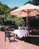 Dining patio outside Stanford Faculty Club