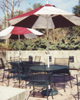 Dining patio at Garden Cafe